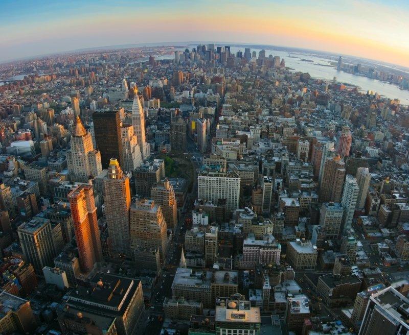 Vista de la Quinta Avenida y Manhattan
