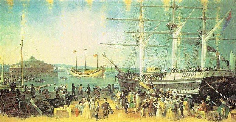 La bahía y el puerto de Nueva York de Samuel Waugh