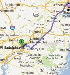 Ubicación de Filadelfia